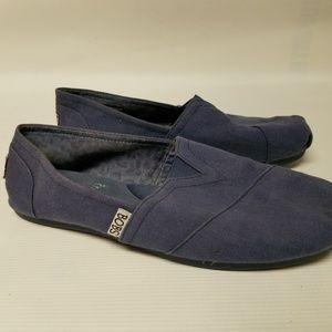 BOBS SKECHERS Blue Cloth Flats 7